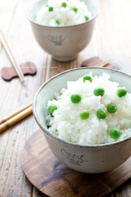 Japanese rice with peas 豆ごはん