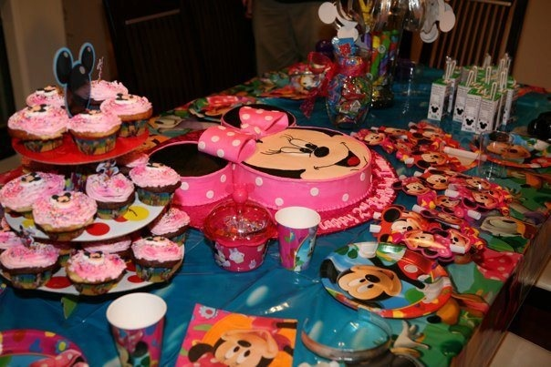 Minnie Mouse & Mickey mouse B-Day. My two year old daughter loved it!!!
