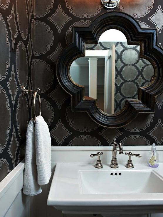 Cool mirror for over the vanity. Maybe I should try a fun shape.