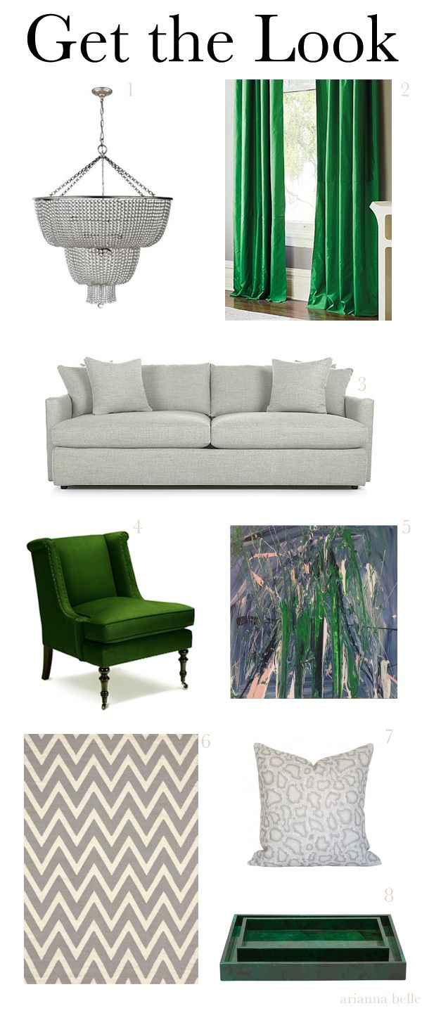 25 best ideas about green curtains on pinterest emerald - Grey and emerald green living room ...