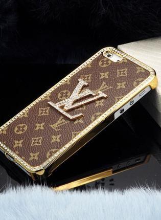 New Brown Luxury Designer Rhinestones Mounted iPhone 5 Case,  Accessory, bling  crystal  rhinestones  iphone 5 case, Chic