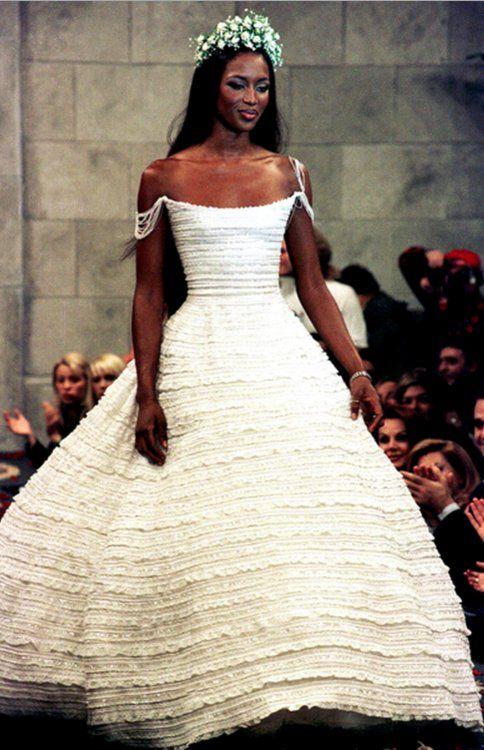 Naomi Campbell for Celia Kritharioti, 1998