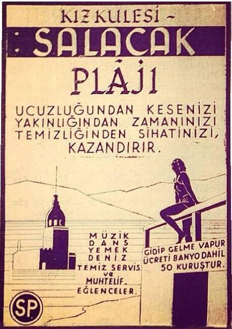 Kız Kulesi Salacak Plajı #İstanbul #birzamanlar  #istanlook