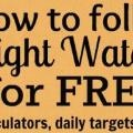 idea #17. How to follow Weight Watchers for FREE. Really.