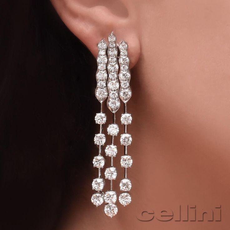 @cellini_jewelers diamonds earrings.