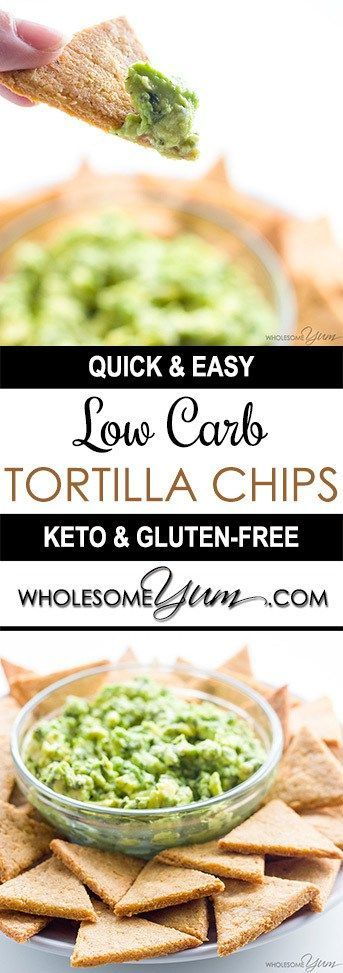 Low Carb Tortilla Chips (Keto, Gluten-free) - The BEST keto low carb tortilla chips ever! They are made with just a few common ingredients that you probably have in your pantry right now.
