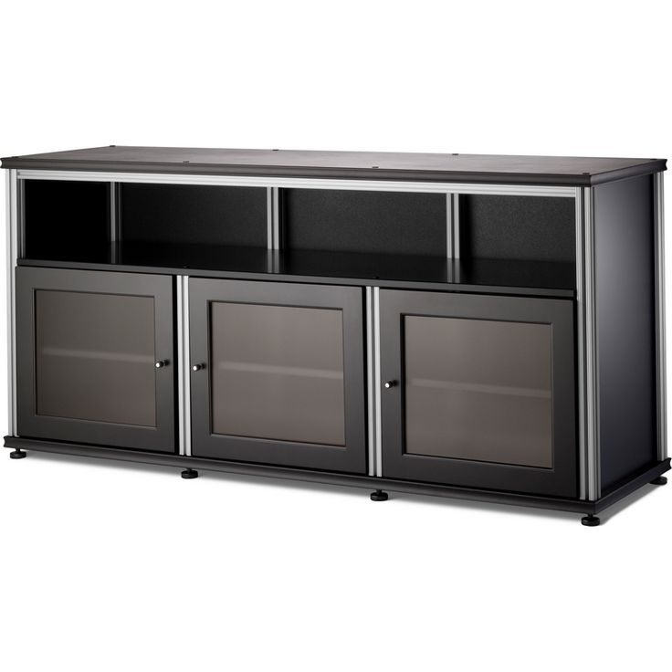 salamander designs synergy 65 tv stand tall cabinet w center opening in 4 finishes black. Black Bedroom Furniture Sets. Home Design Ideas