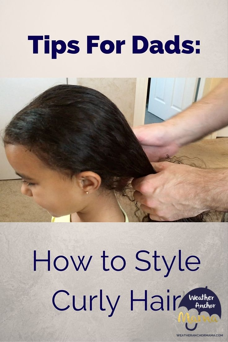 Tips for Dads: How to Style Kids' Curly Hair
