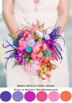 Wild & Colorful Bouquets: 15 Most Colorful Wedding Bouquets So Far » KnotsVilla