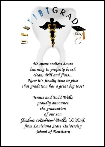 11 best Dental School Graduation DDS Announcements images on - graduation announcement template