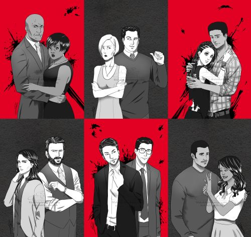 #howtogetawaywithmurder #fanart full team! I'm obsessed with them! Beautiful fanart. I need more