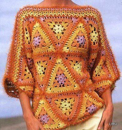 crochet sweaters poncho and gilet
