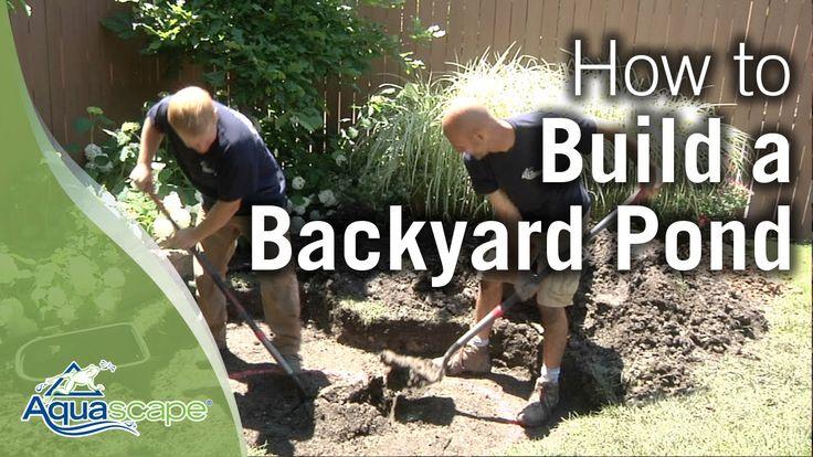 17 best garden ideas images on pinterest landscaping for Backyard pond maintenance