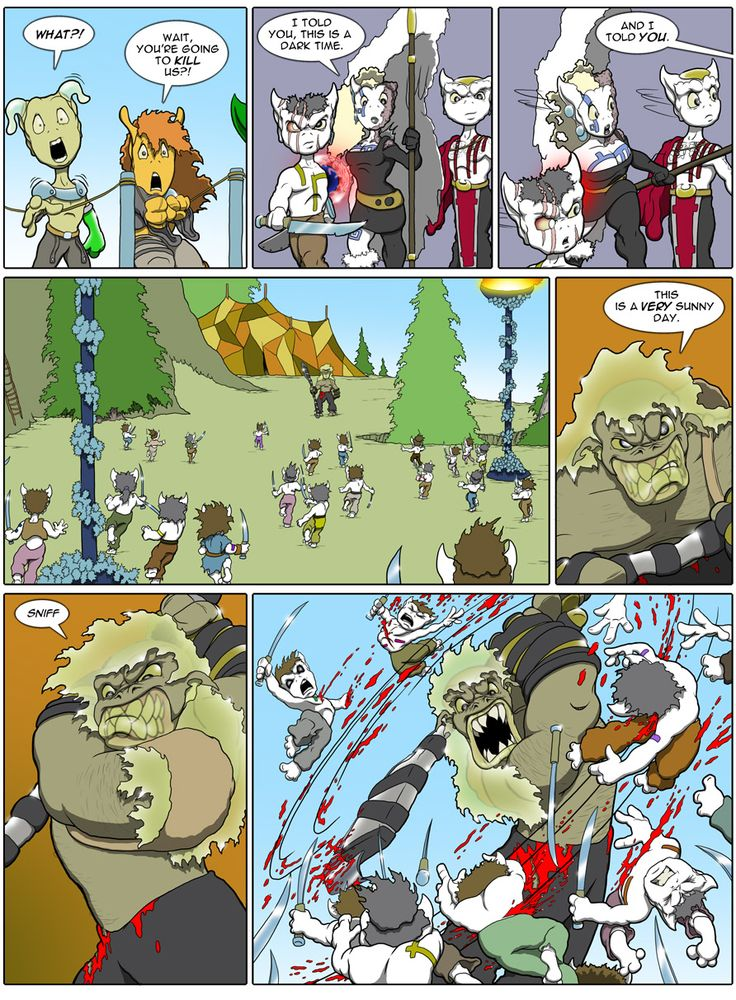 Tarol Hunt Page from the webcomic Goblins: Life Through Their Eyes My all time favorite comic artist. Cartoonish yet satisfyingly violent. The fight scenes this guy does are so good it should be illegal.