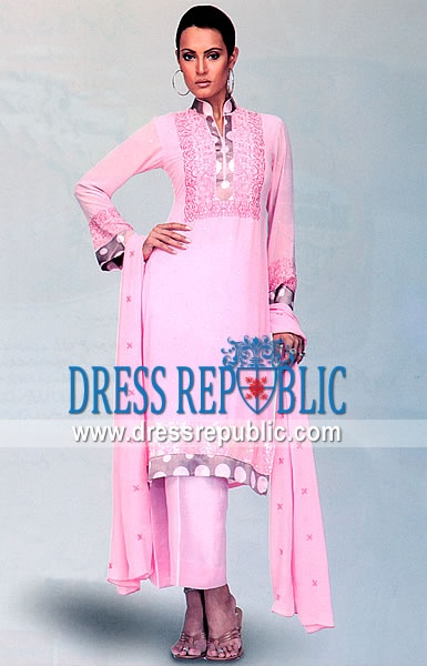 Pink Wemmer, Product code: DR3504, by www.dressrepublic.com - Keywords: Pakistani Casual Shalwar Kameez Collection 2013 Buy Online in USA