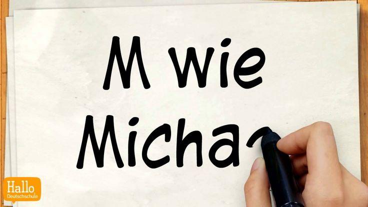 Lektion 1 das Alphabet Aussprache der Buchstaben Deutsch