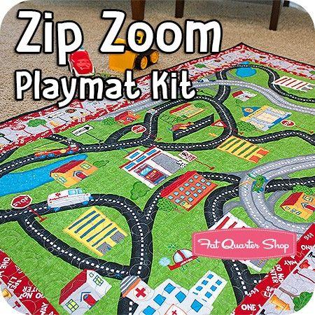Zip Zoom Playmat KitFeaturing Zip Zoom by Viv Eisner - Zip Zoom - Wilmington Prints Fabrics | Fat Quarter Shop