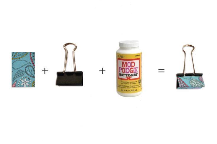 Mod Podge binder clips.