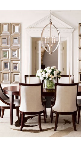 Lovely dining room and table display!....... the chairs
