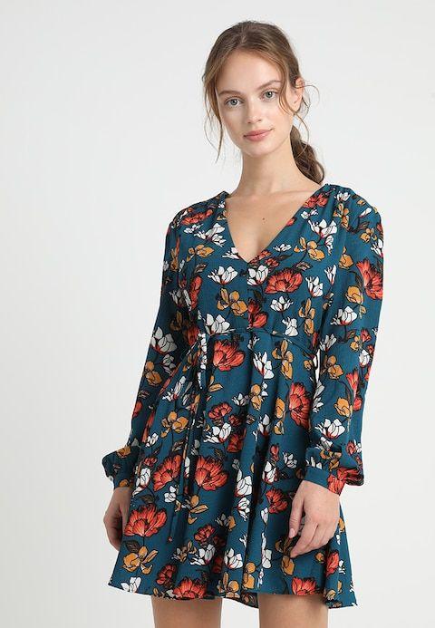 cf93583f33ae01 Glamorous Petite PRINT DRESS - Korte jurk - teal orange - Zalando.nl