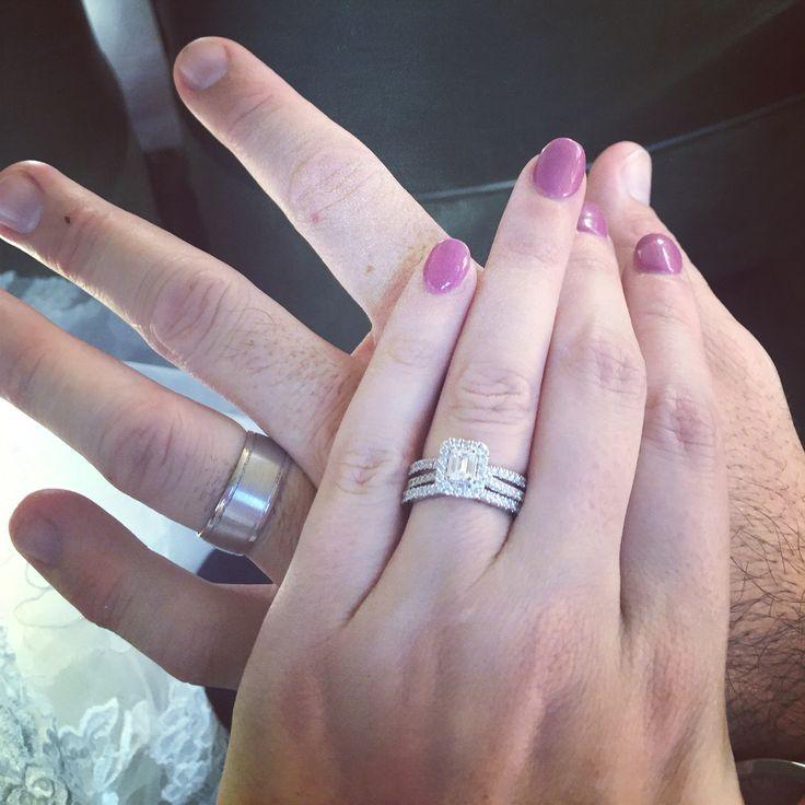 Custom Made Wedding Rings #solidgolddiamonds #customdesign #hisandhers