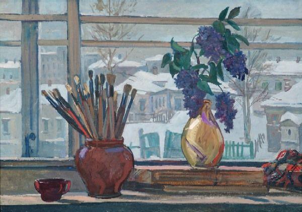 Alexander Deineka - The Window of a Studio, 1947