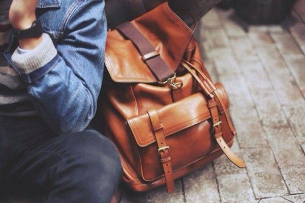 Leather backpack - Leren rugzak  #brown #leather #backpack #fashion #bruin #leer #rugtas #rugzak