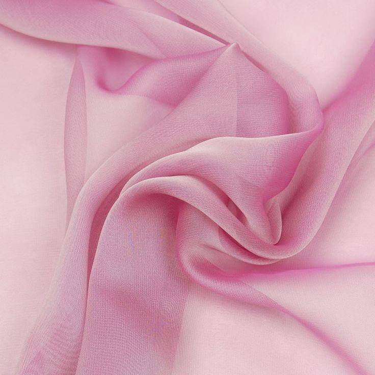 Cationic Chiffon Rose 147cm - Chiffon, Organdy & Organza - Dressmaking - Fabric