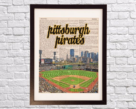 Pittsburgh Pirates Dictionary Art Print  PNC Park  by DictionArt