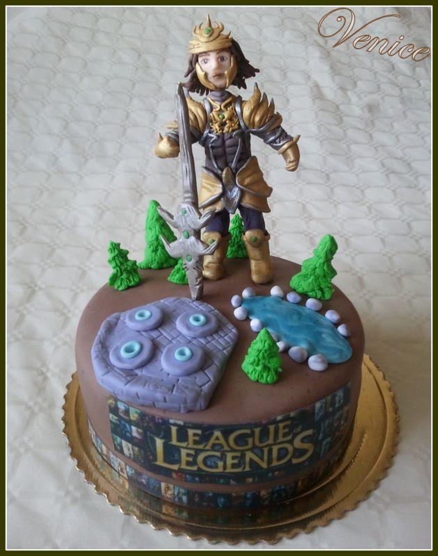 Torta pre môjho syna podľa PC hry League of Legends. Postavička- Jarvan IV