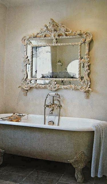 mirror and tub