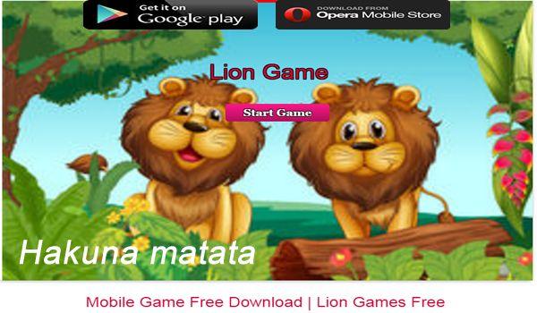 Lion games Hakuna Matata