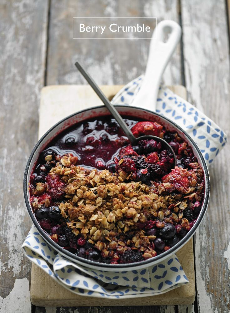 Fresh Fruit & Berry Crumble   |   The Classic Blend of Sweet and Tart:  Mixed Berries and Sugary Oats in a Crumble!