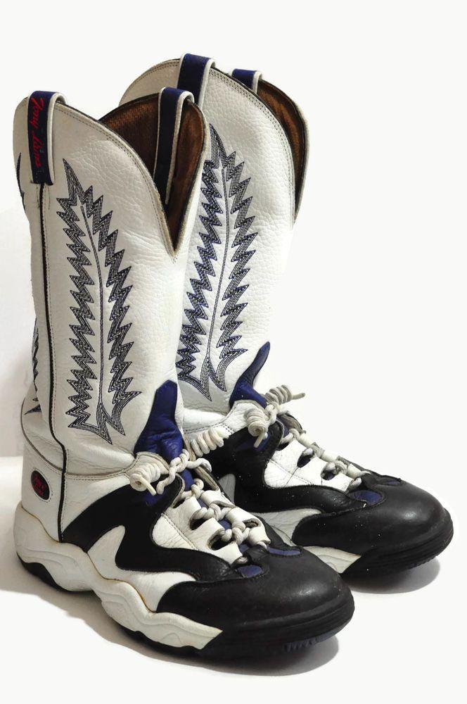 Tony Lama Teny Lama Cowboy Rodeo Clown Sneaker Boots Size 8 5 D T4851 Rare Vtg Tonylama