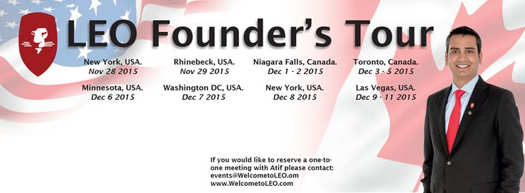 LEO Founders Tour in USA.