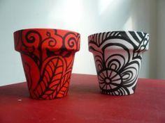 macetas decoradas a mano con acrilico,impermeabilizadas maceta decorada macetas de barro decorada pintura decorativa