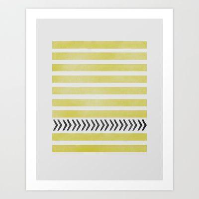 STRIPES AND ARROWS Art Print by Allyson Johnson