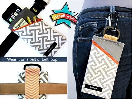 Tutorial: Cell phone pouch to hang from your belt. #sewing #tutorial #pattern