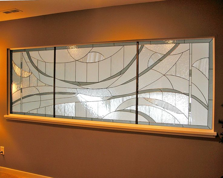 Ocean Waves Gray design.  #stainedglass #window #contemporary #stylish #room #divider #artsy #creative #beautiful