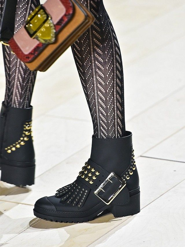 Burberry Burberry's angry boots are going to be a key pick-up for the street style set—and don't be surprised if you see them worn with laddered or patterned tights, either.