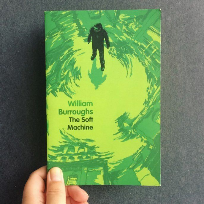 14/40: A book with a green cover: William S. Burroughs' The Soft Machine: This was just a horrible read. I understand that it is experimental, but I had to force myself to read it. It is so bad. Even the chapter that isn't cut up is difficult to understand. Just skip this one.