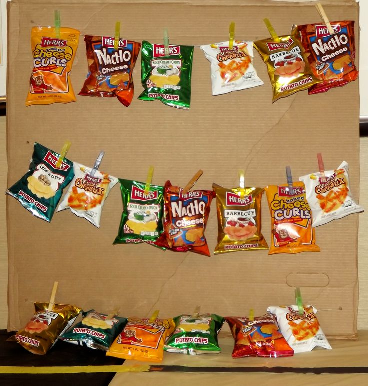 DIY-Concession stand chip display.                                                                                                                                                                                 More