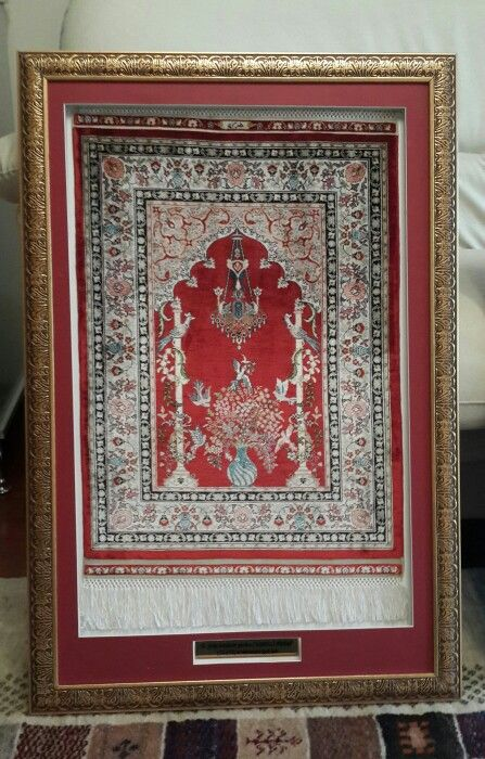 17.yüzyıl örneklerinden KANDİLLİ MİHRAP el dokuması ipek halı..