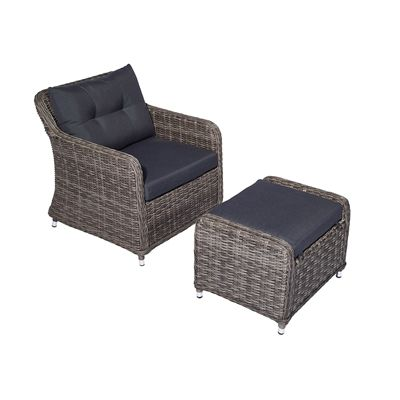 Patio Chair With Ottoman Canada Desk You Can Sleep In Allen Roth Outdoor Conversation 773527 Kingsmill Woven And Set