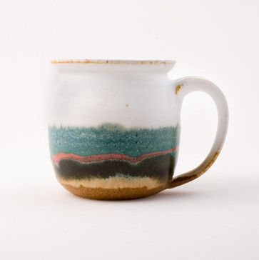 Stoneware Mugs, Set of Two - eclectic - tabletop - Best American Arts