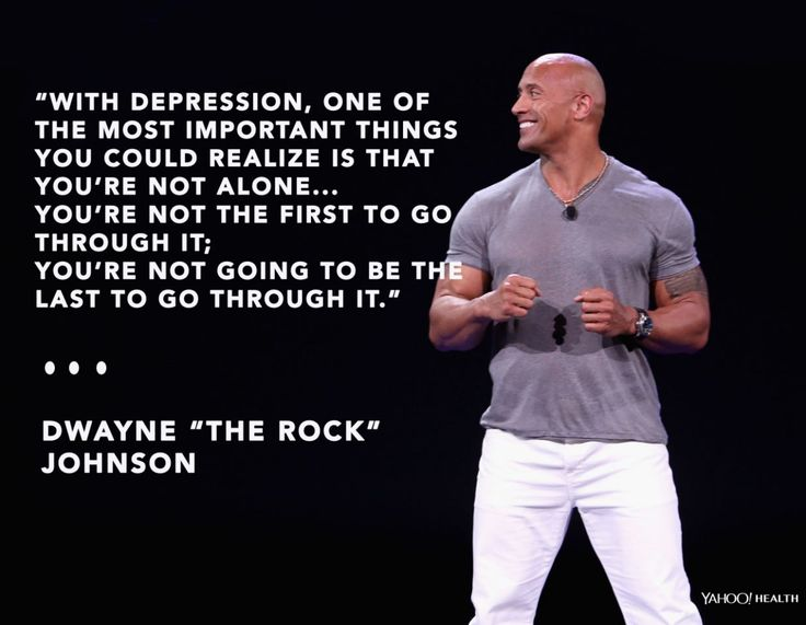 """Dwayne""""The Rock"""" Johnson. REPINNED M.S.SCOTT Approx. 8% of Canadians live with depression, yearly ....."""