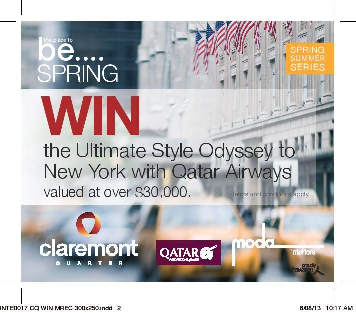 Win our $10 000 interior design prize...enter at Claremont Quarter