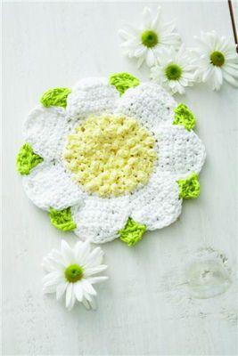 【ツ】Porta -Copos em Crochê de Flor - / 【ツ】Beverage Coasters in Crochet than Flower -