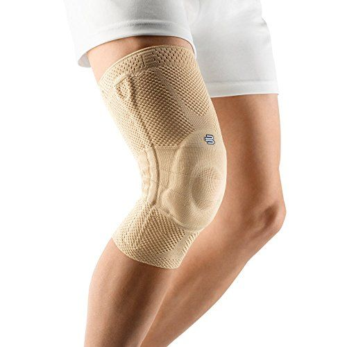 Bauerfeind GenuTrain Knee Support - breathable knit compression knee brace to relieve pain and swelling from arthritis ACL injury Miniscus tear machine washable knee sleeve (Nature 7)