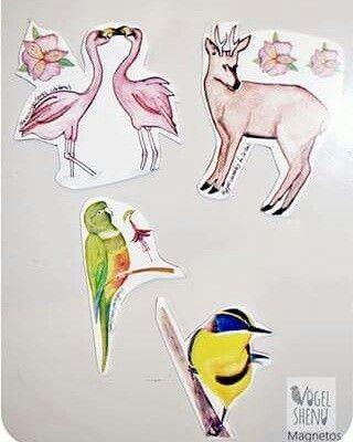 MAGNETOS #bird #animals #ilustrations